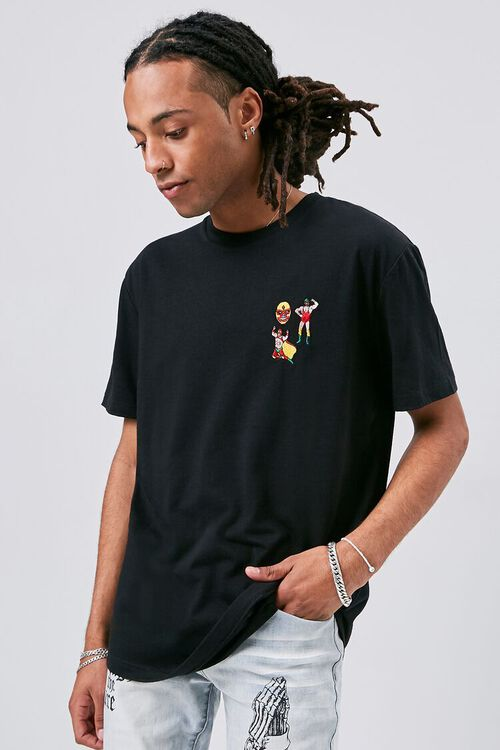 Luchador Embroidered Graphic Tee, image 1