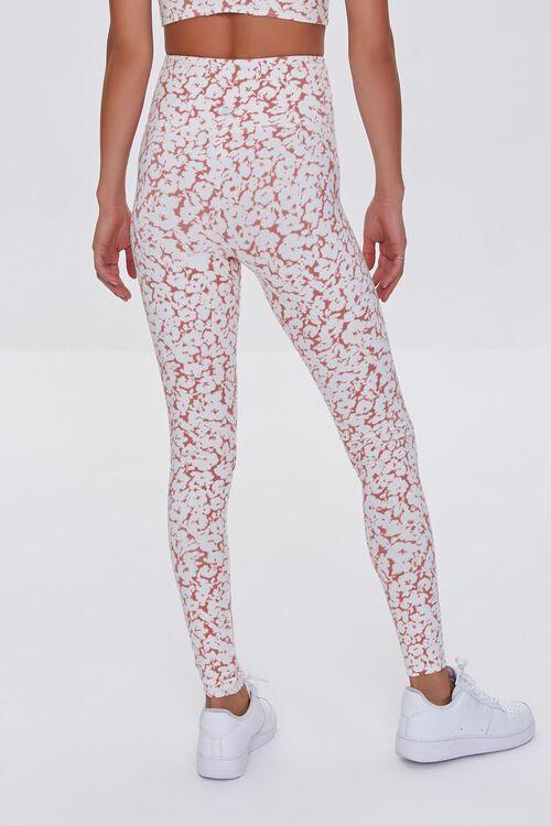 MAUVE/WHITE Active Floral High-Rise Leggings, image 4