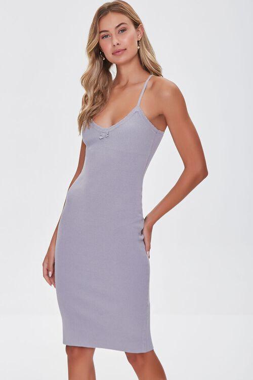 Lace-Trim Bodycon Dress, image 1