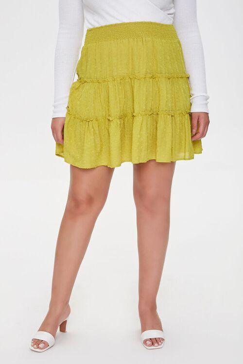 Plus Size Clip Dot Mini Skirt, image 2