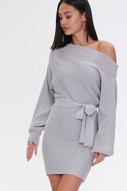 Off-the-Shoulder Sweater Dress, image 1