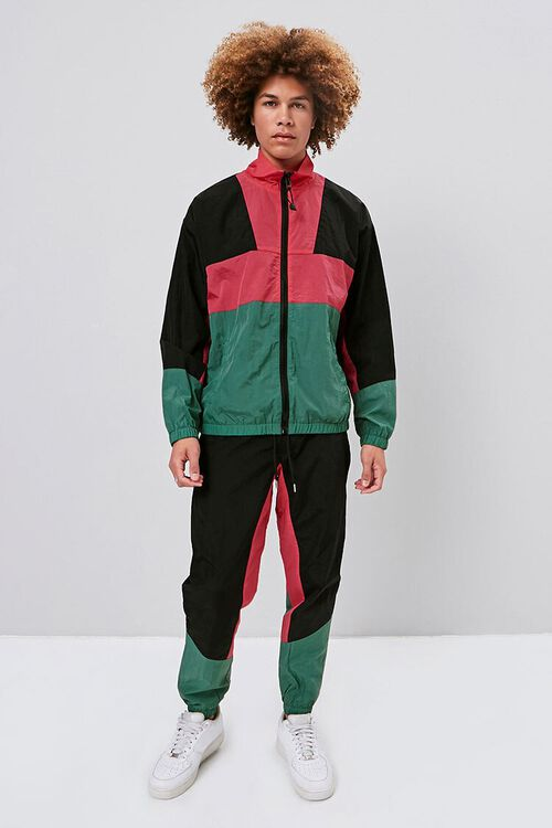 Zip-Up Colorblock Windbreaker, image 4
