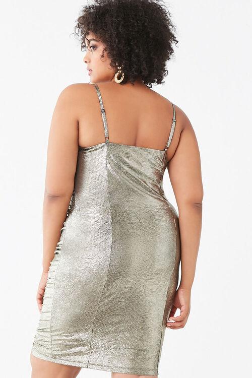 Plus Size Metallic Pin Dot Dress, image 3