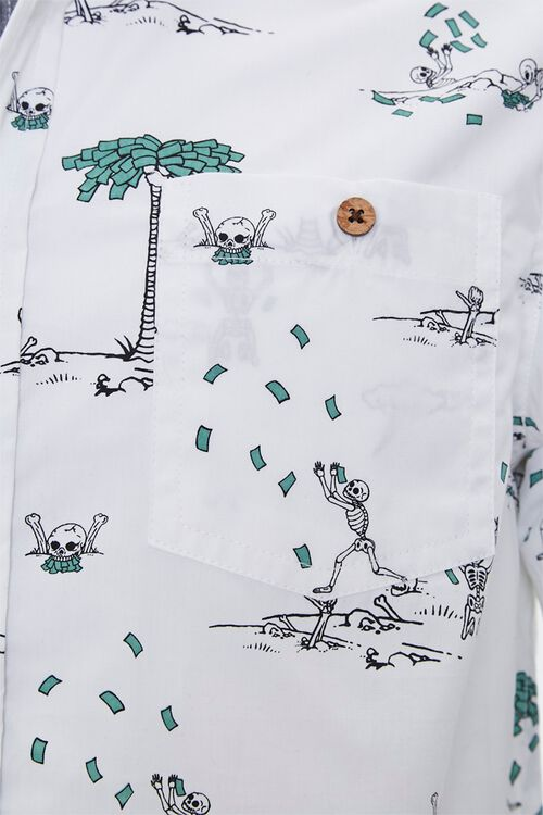 Skeleton & Money Print Shirt, image 3