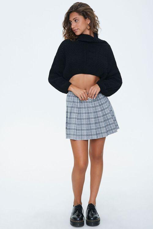 Pleated Houndstooth Mini Skirt, image 5
