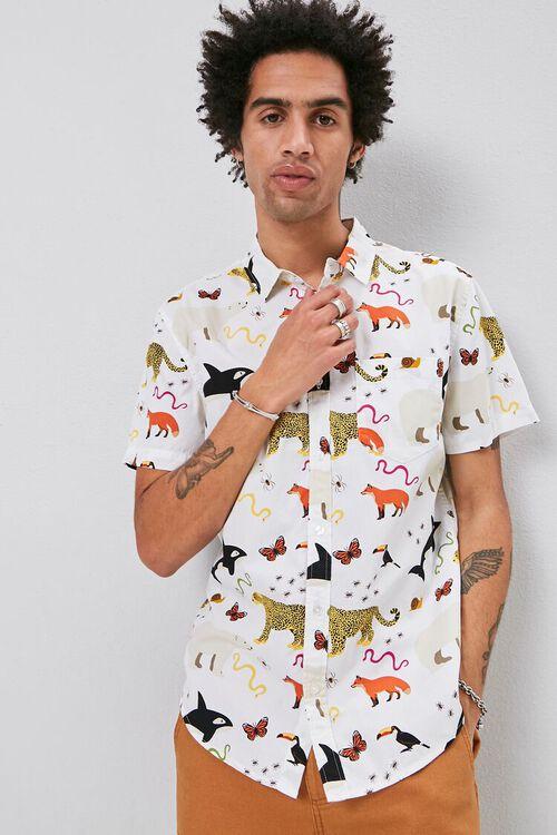 Classic Fit Animal Print Shirt, image 1