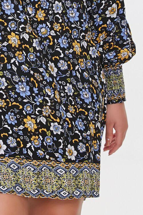 Plus Size Ornate Floral Shift Dress, image 5