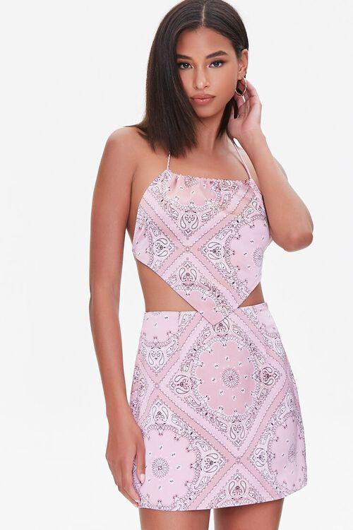 Paisley Print Mini Skirt, image 1