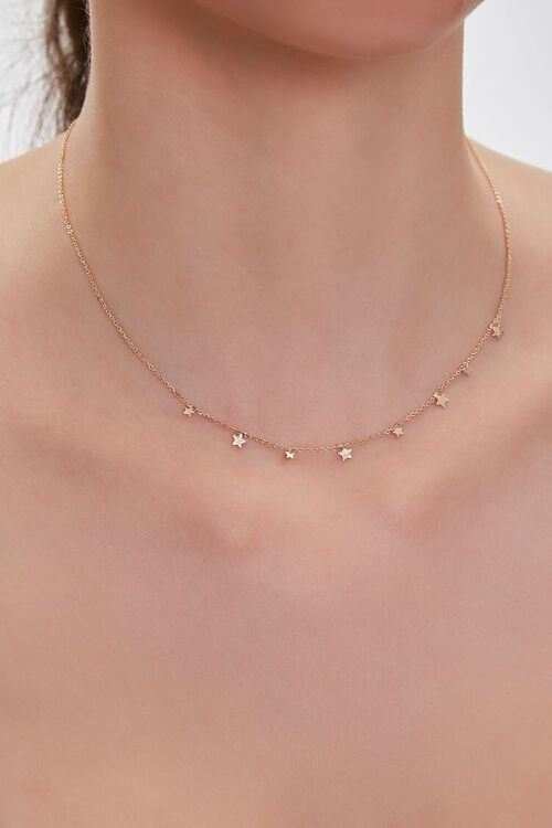GOLD Star Charm Necklace, image 1