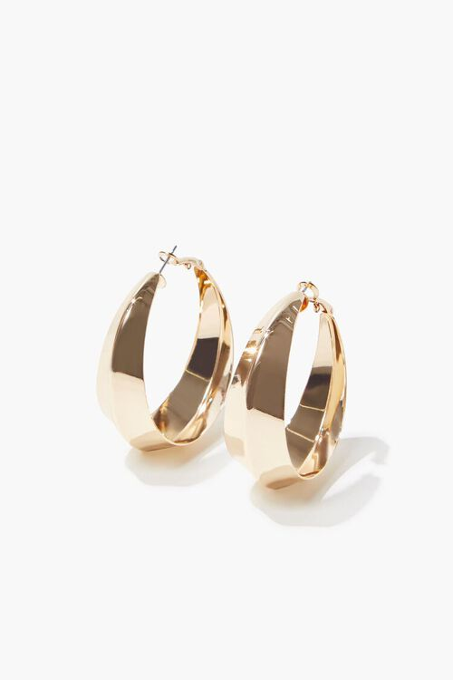 High-Polish Hoop Earrings, image 2