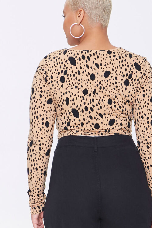 Plus Size Spotted Crop Top, image 3