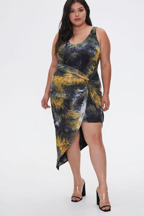 Plus Size Tie-Dye Tulip Dress, image 1