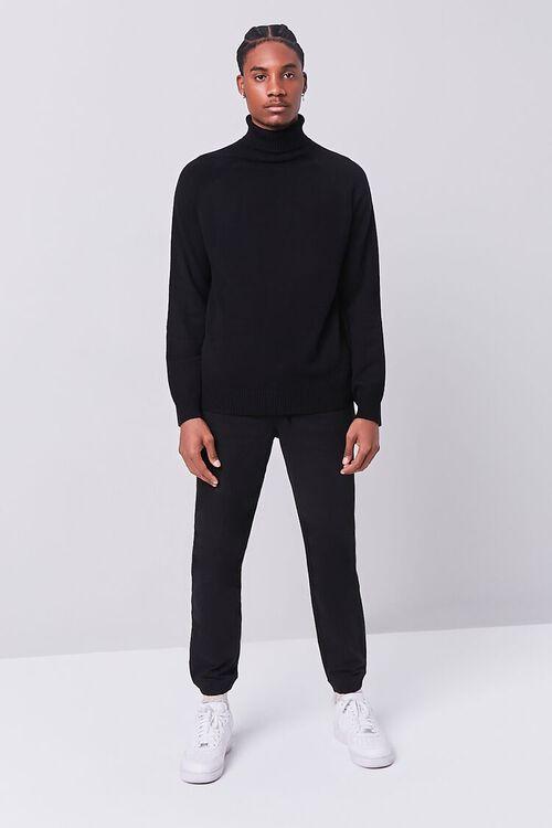 BLACK Turtleneck Raglan Sweater, image 4