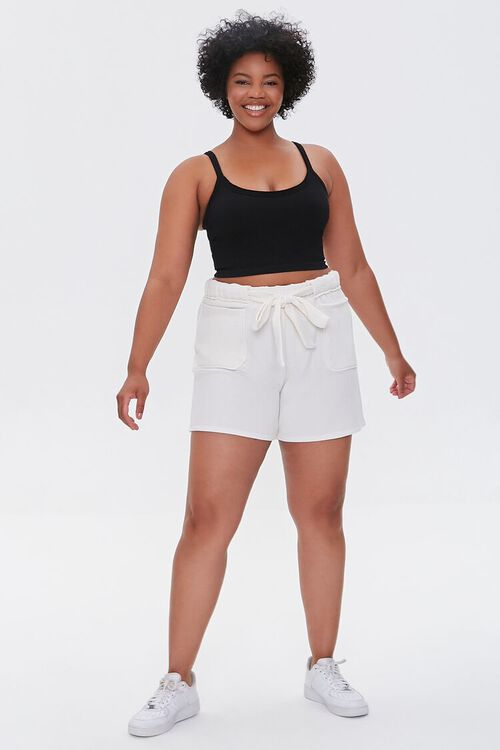 CREAM Plus Size Fleece Tie-Waist Shorts, image 5