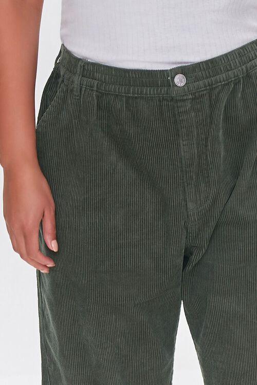 OLIVE Plus Size Corduroy Pocket Joggers, image 5