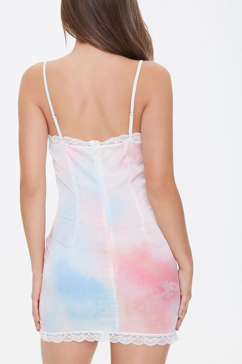 WHITE/MULTI Cloud Wash Lace-Trim Slip, image 3