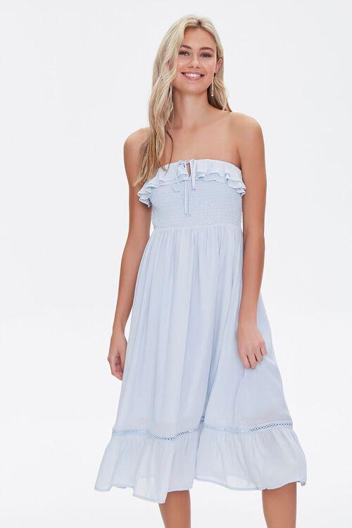 Smocked Ruffle-Trim Dress, image 1