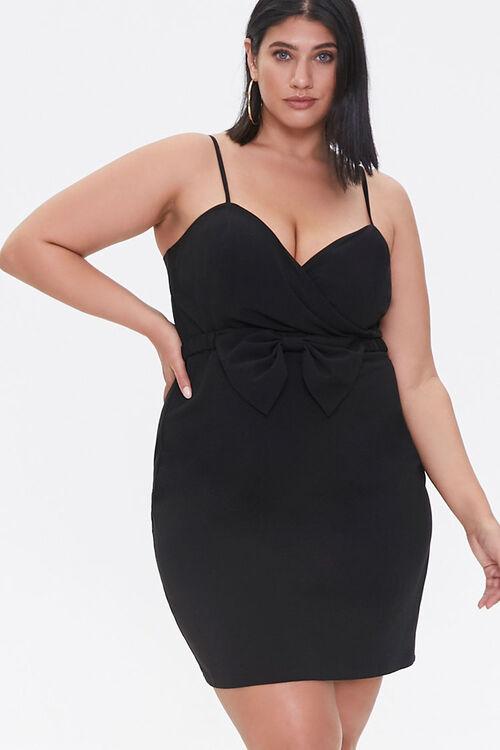 Plus Size Bow Mini Dress, image 1