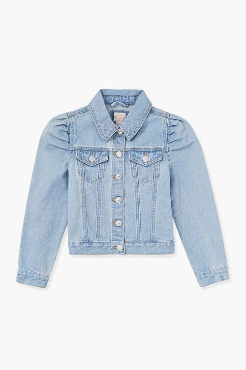 Girls Puff-Sleeve Denim Jacket (Kids), image 1