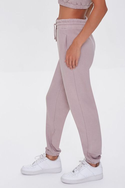 TAUPE French Terry Drawstring Joggers, image 3
