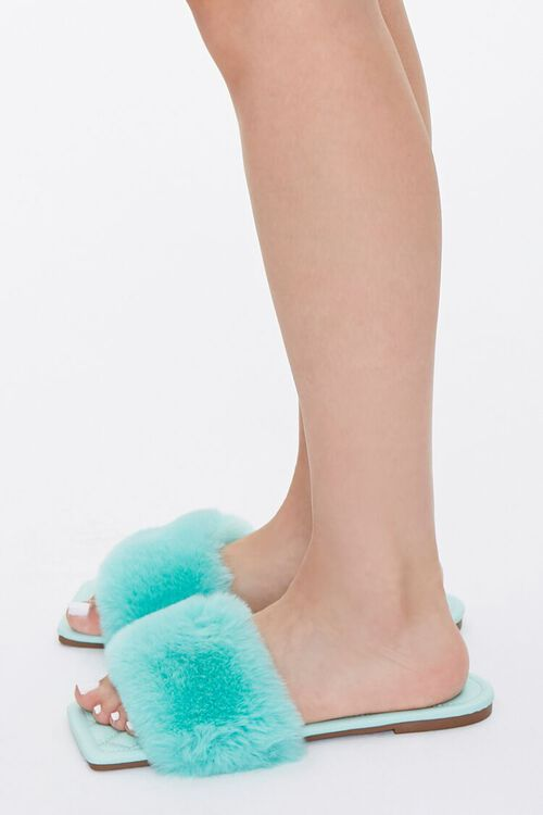 Faux Fur Quilted Slippers, image 2