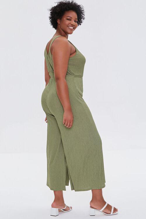 OLIVE Plus Size Wide Leg Cutout Jumpsuit, image 2