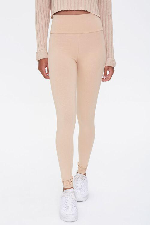 Cotton-Blend High-Rise Leggings, image 2