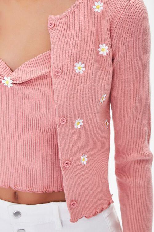 Daisy Print Cardigan Sweater, image 5