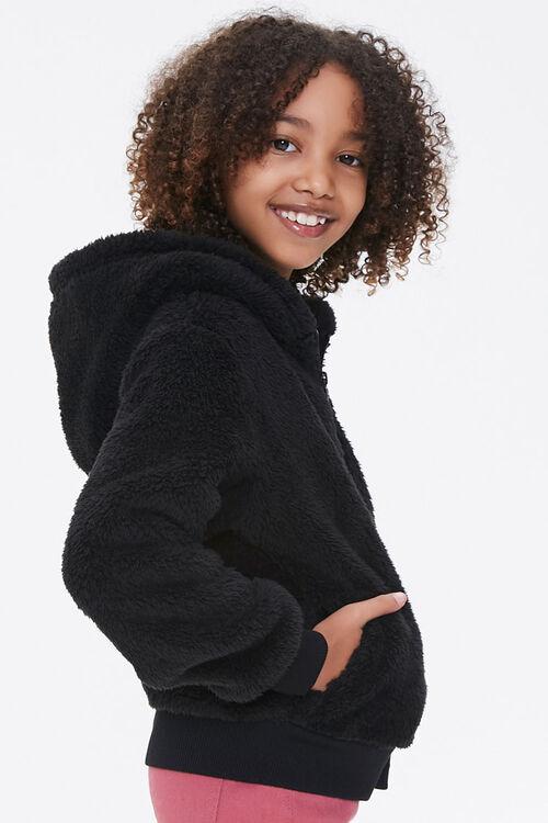 Girls Hooded Teddy Coat (Kids), image 2