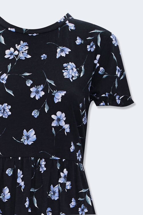 Ruffled Floral Mini Dress, image 3