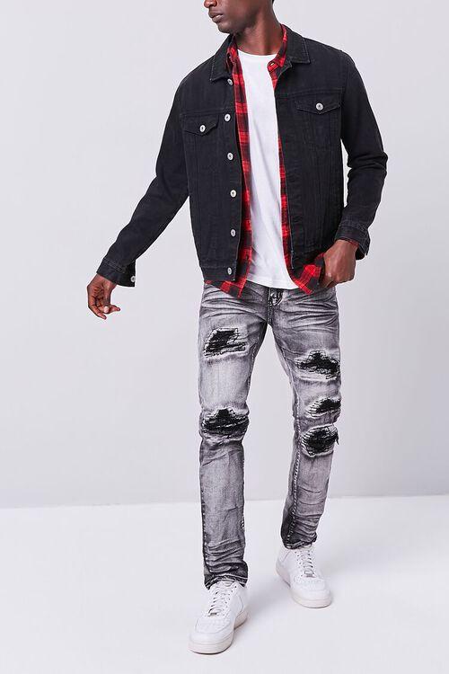 WASHED BLACK Waimea Distressed Weatherbeaten Jeans, image 1