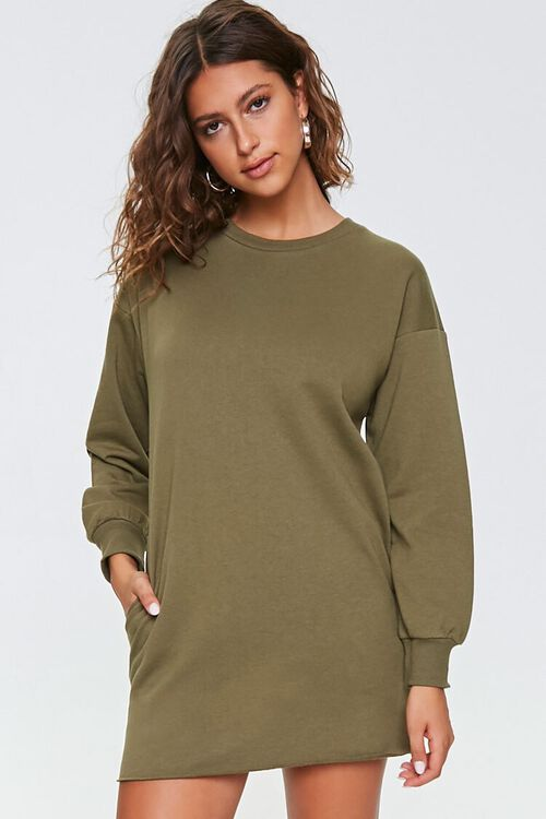 French Terry Sweatshirt Dress, image 1