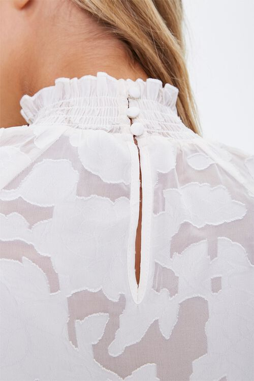 Abstract Smocked-Trim Mini Dress, image 5