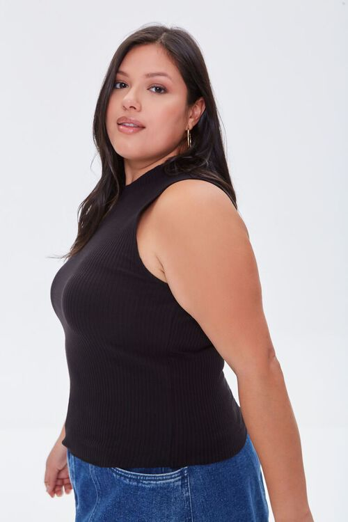 Plus Size Ribbed Cropped Tank Top, image 2