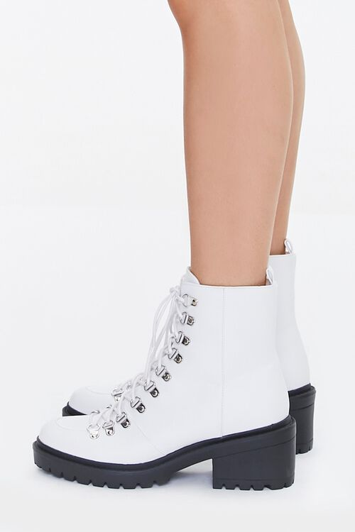 Faux Leather Combat Boots, image 2