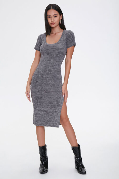 Heathered Bodycon Dress, image 4