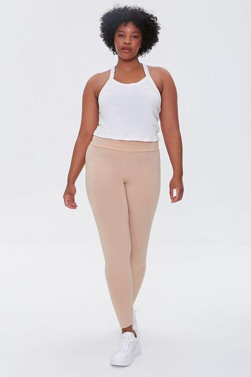 Plus Size Basic Organically Grown Cotton Leggings, image 5