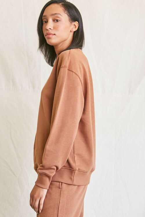 MOCHA French Terry Crew Pullover, image 2
