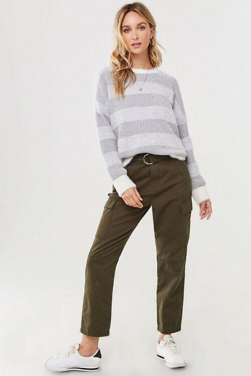 Fuzzy Striped Sweater, image 4