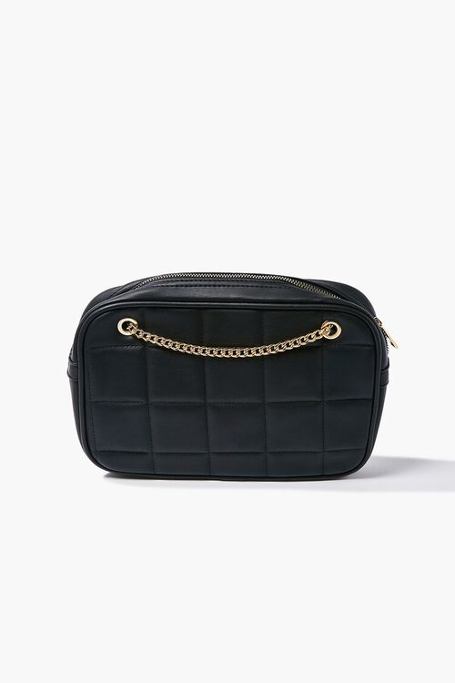 BLACK Quilted Crossbody Bag, image 1