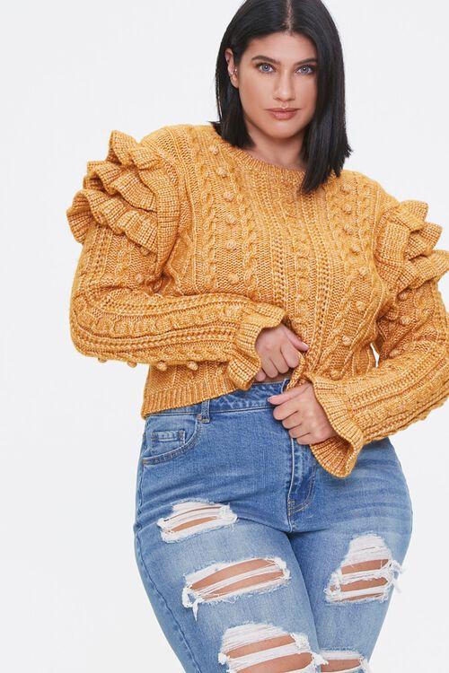 Plus Size Ruffled-Sleeve Sweater, image 1