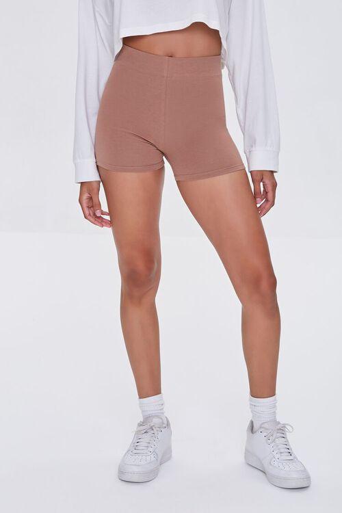 Basic Organically Grown Cotton Biker Shorts, image 2