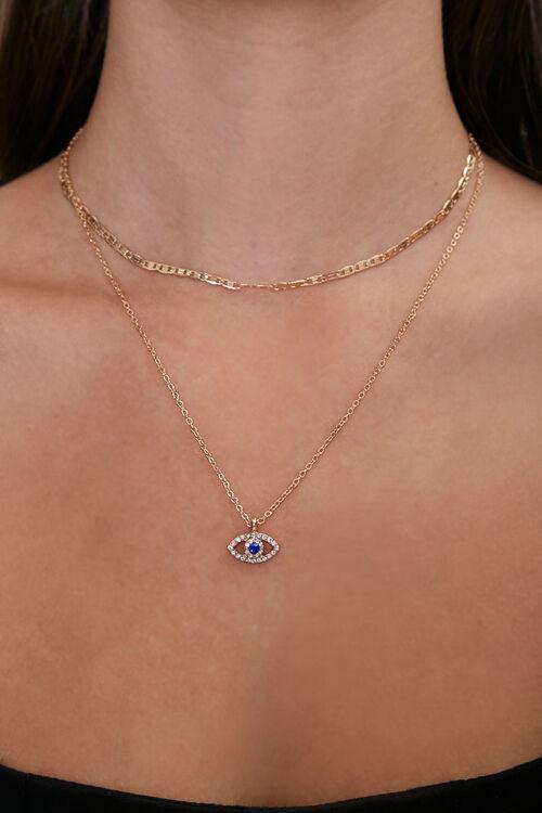 Eye Pendant Layered Necklace, image 1