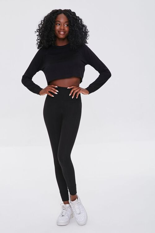 Active French Terry Crop Top, image 4