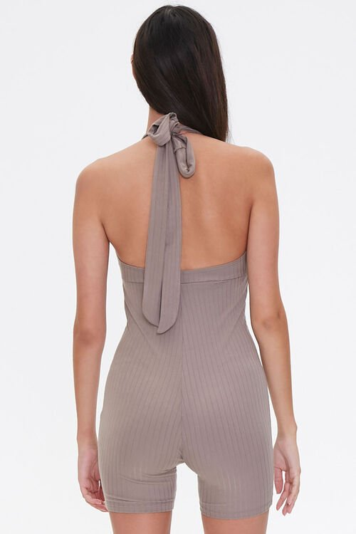 Ribbed Plunging Romper, image 3