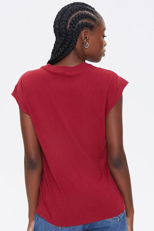 RED/RED Embroidered Bisous Tee, image 3