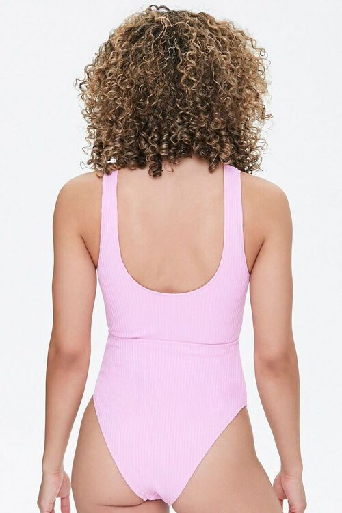 Ribbed Cutout One-Piece Swimsuit, image 3