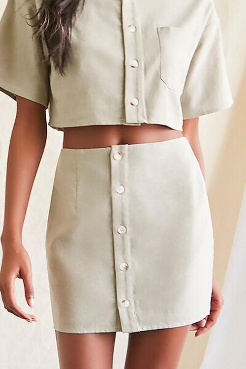 Linen-Blend Shirt & Skirt Set, image 6