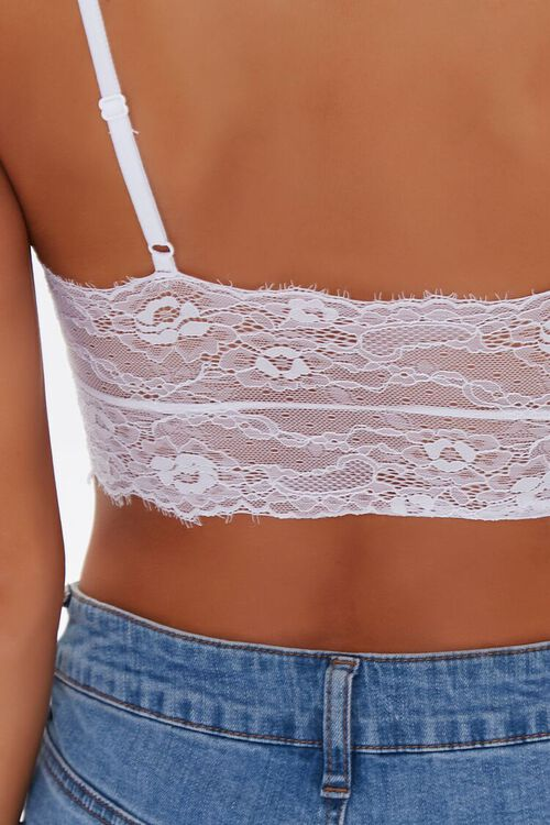 WHITE Floral Eyelash Lace Bralette, image 5