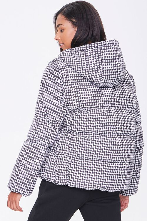 Hooded Houndstooth Puffer Jacket, image 3